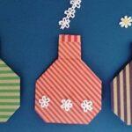 コップとびんの折り紙